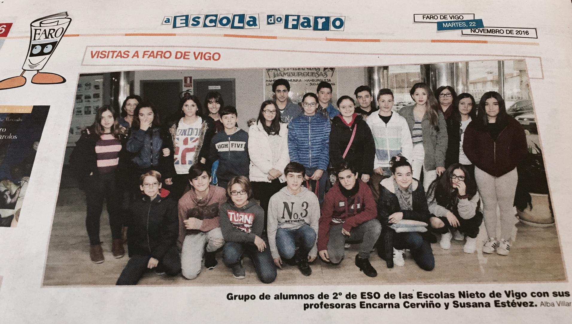 alumnos/as de 2º da E.S.O. en Faro de Vigo